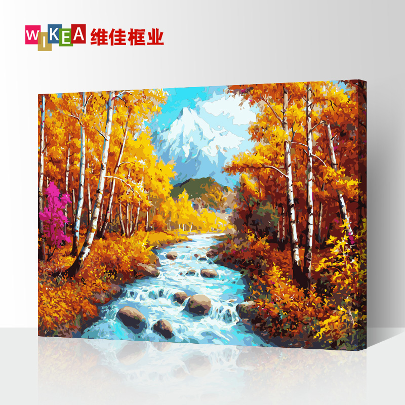 DIY digital oil painting modern simple Bedroom Sofa character landscape cartoon animation large hand painted decorative picture frame