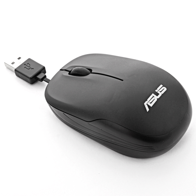 ASUS wired mouse retractable mouse home office laptop computer mouse desktop usb photoelectric