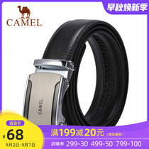 Camel belt mens cowhose automatic buckle belt middle-aged Korean version of business fashion leisure middle-aged trouser belt tide