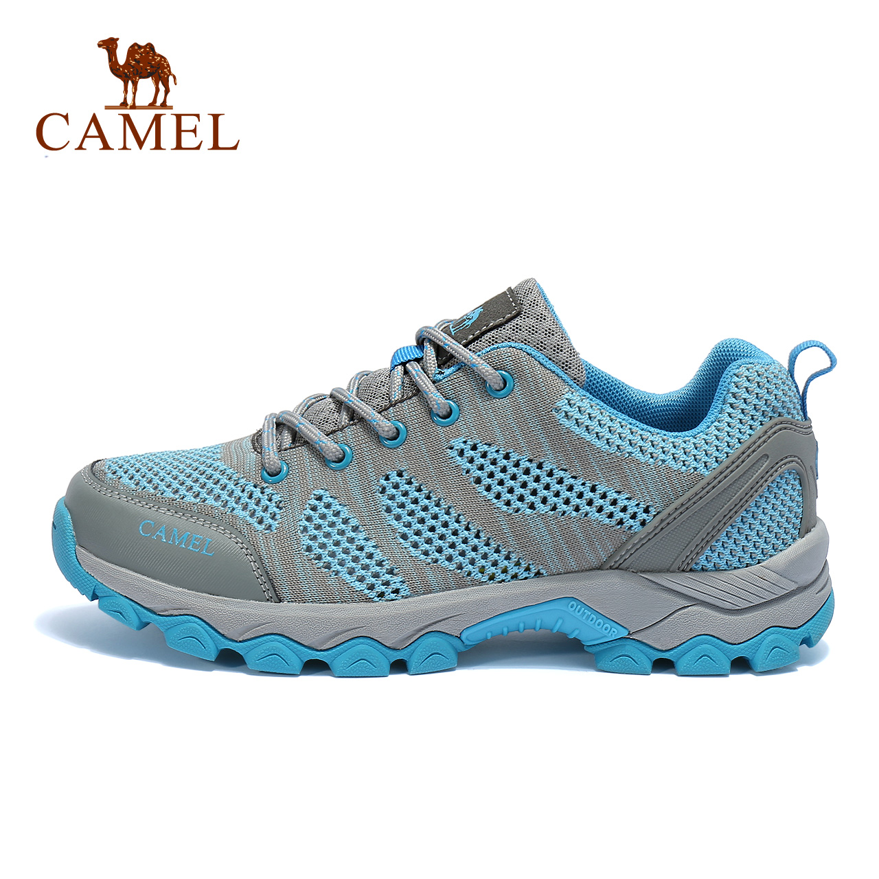 [Broken code clearance] camel outdoor walking shoes female models non-slip shock absorption breathable comfort low to help climbing net shoes