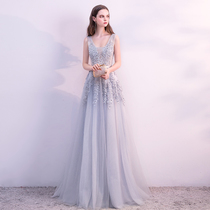 Evening dress 2018 New style long dignified atmosphere elegant party dinner host annual meeting bridesmaid dress Summer