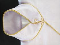 Fleur spéciale de paire d'or d'anneau de tissu