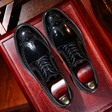TRD Italian handmade Derby shoes British style carved leather shoes men's leather Block casual shoes Korean version versatile