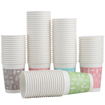 Effective 9563 thick paper cups 100 disposable cups 250ml easy to change water disposable cups home paper cups durable paper cups office cups