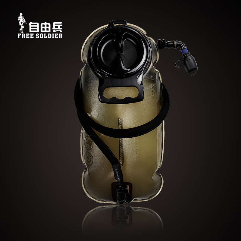Free exercise sport outdoor water bag folding portable army fan supplies pressure water bag running soft kettle