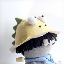 Plumo Pilom original toddler cotton spring and autumn hat mens and womens sun hat baby outing dinosaur fisherman hat