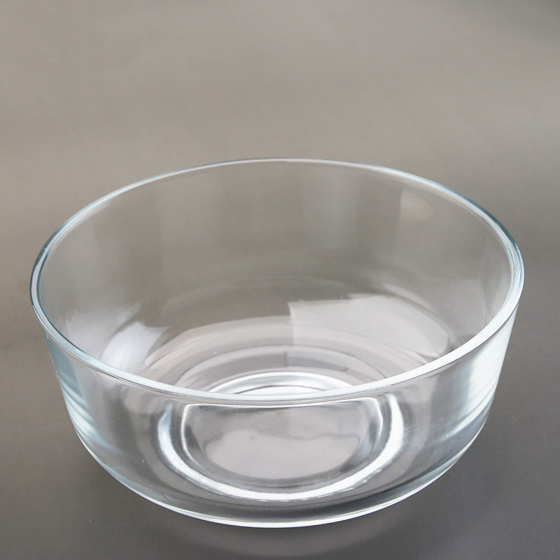 Thickened glass tea wash 1200ml salad bowl Cup wash large kung fu glass tea set heat-resistant glass wash cup