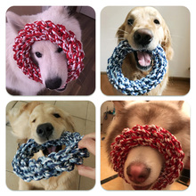 Dog Toy Bite Rope, Anti-Bite Molar Rope, Knot Molar Rope, Samoye Golden Hair, Alaska Large Dog Molar Rod