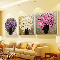Thickened Frame Digital Oil Painting Diy Living Room Triple Painting Landscape Couple Flower Hand Painting Decorative Painting