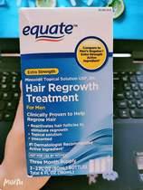 现货Equate Mens Minoxidil Hair Regrowth Treatment or women