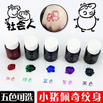 Korean semi-permanent small tattoo paste juice template hollow pattern template book embroidery Haina spray-painted set