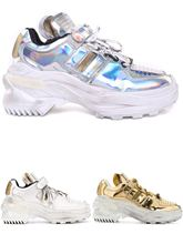 Maison Margiela MMM autumn winter FW18 new lady thick bottom sports daddy shoes gold silver white
