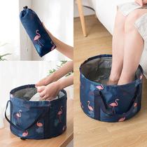 Portable stackable basin outdoor basin travel large bubble foot bag travel washbasin washbasin bucket.
