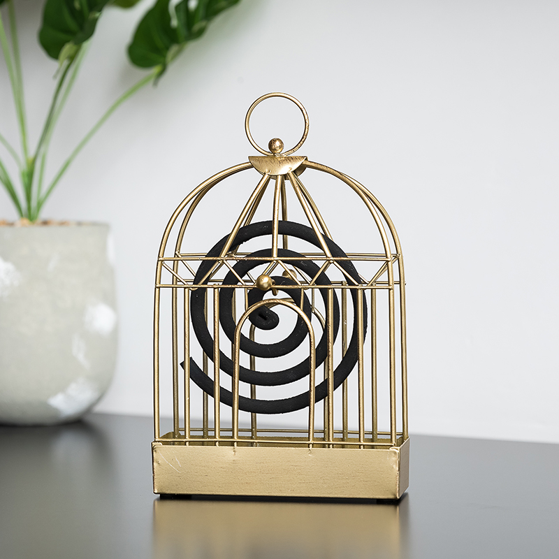 Tieyi mosquito incense burner sandalwood incense burner interior decoration creative bird cage mosquito incense shelf household mosquito incense tray
