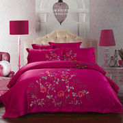 The high-end wedding bedding four piece six piece 60 Cotton Satin Embroidered Cotton Bed 1.5/1.8m