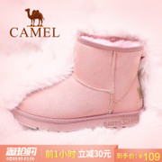 The camel shoes 2017 new winter snow boots with thick flat female cashmere boots short canister boots female students