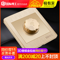 (dimming switch) Type 86 home lighting adjustable brightness switch 220v controllable high power regulator Knob