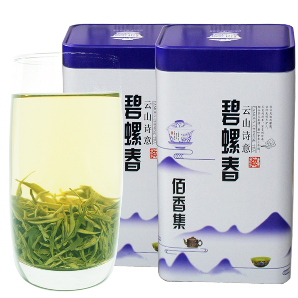 Baixiangji New Tea Green Tea 2019 Bulk Selected Previous Biluochun Tea Flavor 500g Canned