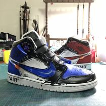 Penny a shoe custom DIY hand-painted color graffiti two yuan ow dismantling style AJ1