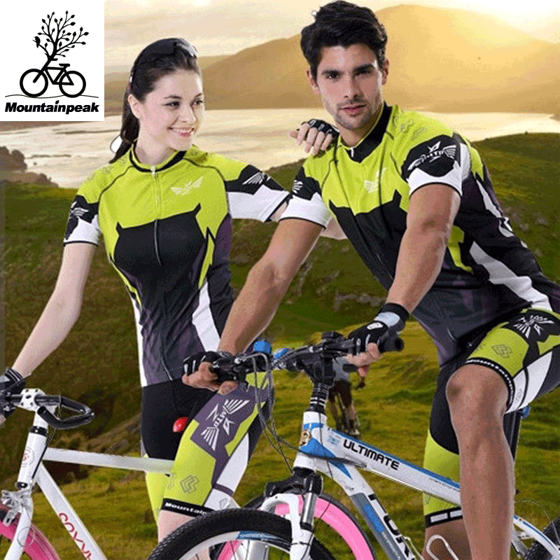 Mountainpeak men's and women's cycling clothes short sleeve suit summer self-cultivation breathable mountain bike riding shorts