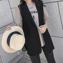 Suit vest womens coat Korean version of the small man sleeveless waistcoat large size spring and autumn horse clip Net red vest outside wear