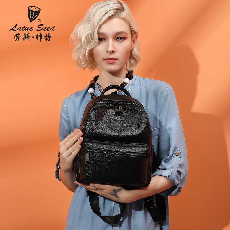 Genuine leather shoulder bag for women 2019 new top-grade cowhide tourism soft leather bag Baita lady backpack genuine