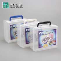 Japan imports Sanada Household CD storage box CD finishing box storage box transparent disc box can be superimposed