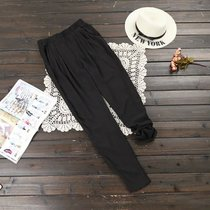 XL pants woman Xia Pang mm200 pounds of added fertilizer 2016 slim chiffon harem pants with bound feet L62-B5