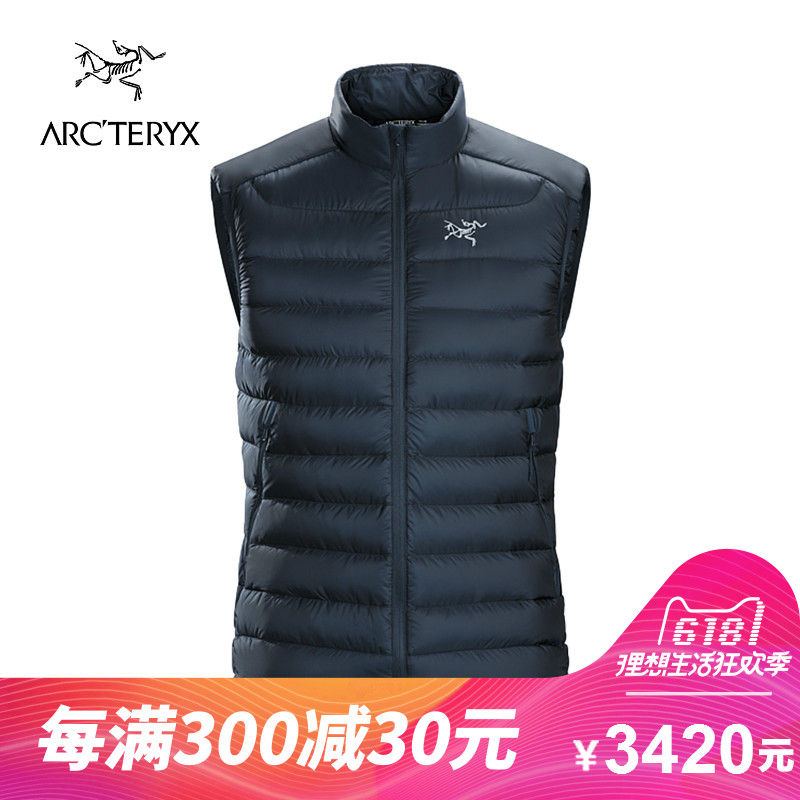 ARCTERYX / Archaeopteryx men's lightweight warm stand collar hiking down vest Cerium LT 18015