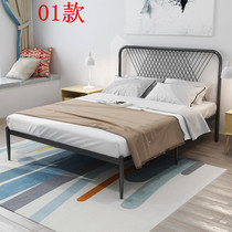 Simple modern iron bed adult bed double bed 1 8 iron bed ins net red single 1 5 meters iron frame bed classic