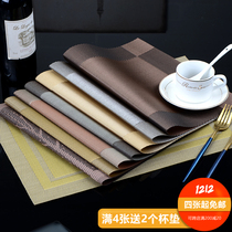 Spot Hotel Mat PVC anti-skid insulation European PVC Table mat washable environment-friendly plate dishes Western mat double color