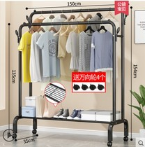 Hanging clothes rack one-pole hanger bedroom simple drying
