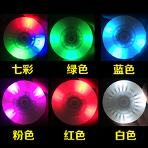 Skates children flash straight row nightlight wheel adult roller skating super luminescent wheel Brush Street flat flower wheels PU wear-resistant