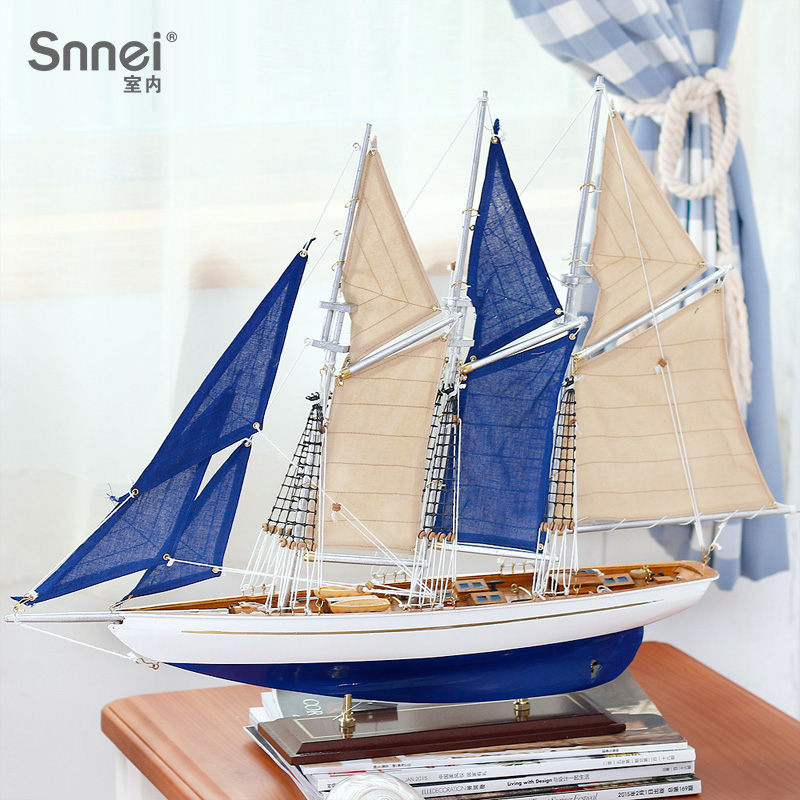 Snnei Sailing Vessel Model Assembly Wooden Ship Arrangement Solid Wood Model Vessel Craft Ship Sailing Smoothly 60 cm