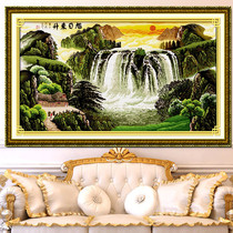 Super clear color cross stitch heavy drawing Paper Source file sunrise sunrise 580-296 59 color