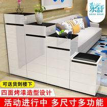 Shoe cabinet paint cabinet high and low cut off the entrance ladder double-sided shoe cabinet simple modern environmental protection Hall cabinet