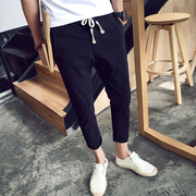 In the summer, nine pairs of thin trousers, men's little pants, Korean men's Haren pants, slim pants, 9 point pants, male tide