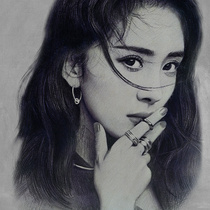 Sketch portrait color Lead painting pure hand-painted photos turn to live painting custom character Avatar portrait portrait lead