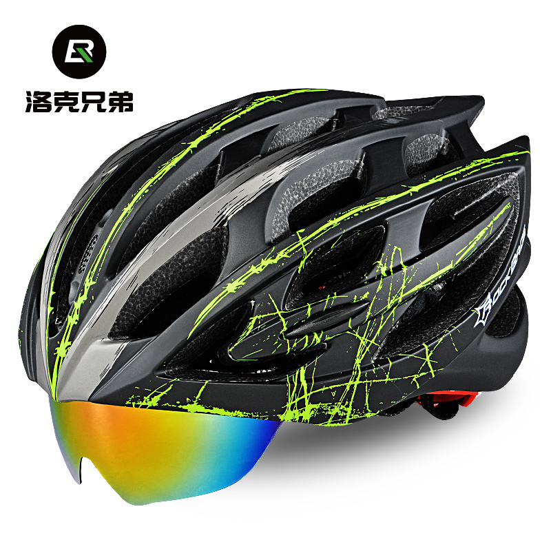 Rock Brothers Mountainous Bike Helmets for Men and Women in One Riding Helmets with Glasses Wind Lens Helmets Accessories