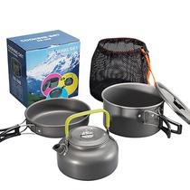 Outdoor set pot 1-2-3-4-5 people camping pot set portable picnic stove head set pot teapot set picnic set pot pot
