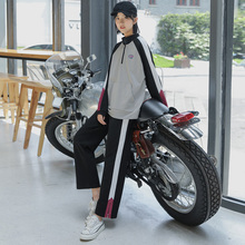 Erwei Sportswear Leisure Suit for Female Students Two Suits 2019 New Spring and Autumn Suit Pants Loose Korean Version