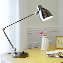 Simple Creative Metal Office work learn to read eye protection led dimming bedroom desk folding long arm table lamp