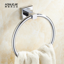 Blow-Free All-copper towel ring towel rack towel towel ring bathroom hardware pendant hanging ring stainless steel color