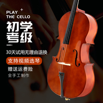 Factory direct sales beginners hand-crafted professional examination-level childrens adult band playing the violin bag musical instrument cello