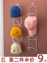 Hanging hat to collect the artifact creative hanger dormitory door after the wall finishing multi-functional hole-free wall hook frame.