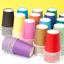 Diy disposable hand-thickened colored paper cup white paper cup kindergarten childrens puzzle art creative materials.