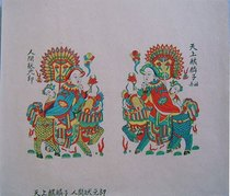 Suzhou Taohuawu woodcut New Years painting direct sales world champion Lang hand-carved top printing rice paper gift
