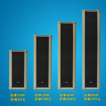 30W Outdoor Waterproof Sound Column Outdoor Rain-proof Wall-mounted Soundbox Campus Broadcasting Horn Background Music Sound
