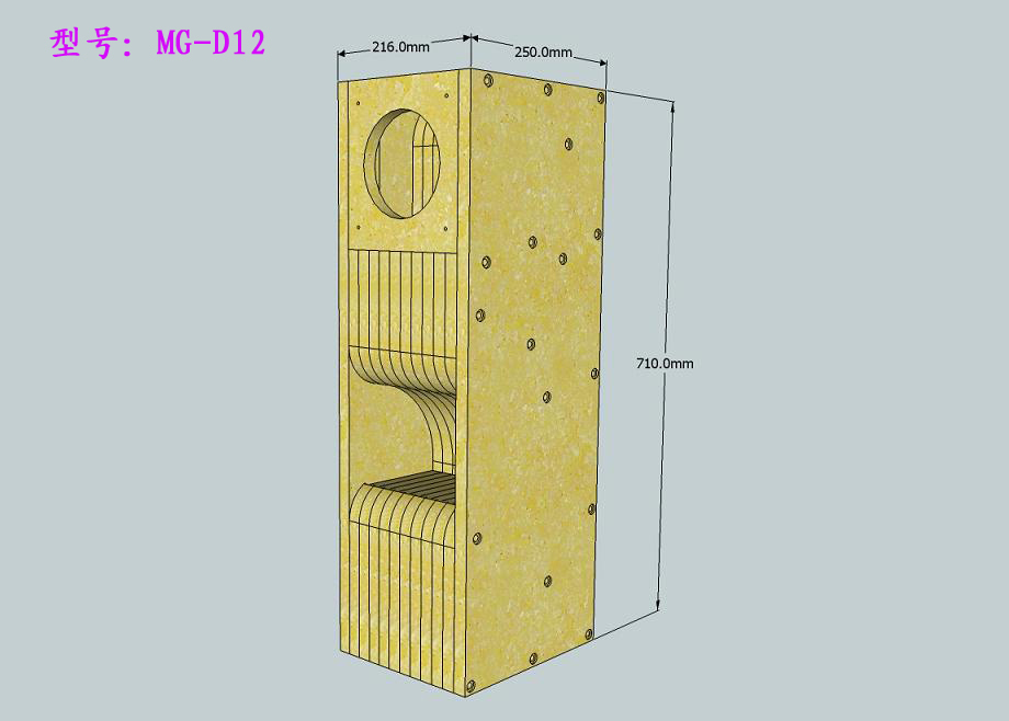 Jianping audio full frequency solid wood maze speaker 3 inch 4 inch 5 inch 6.5 inch diy suite cnc
