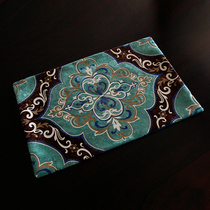 European simple modern big horse double color velvet carving printing table pad fabric insulation pad meal mat